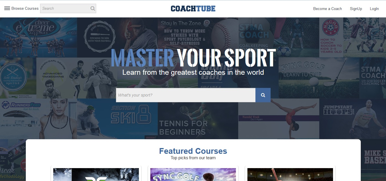 Coachtube home screenshot